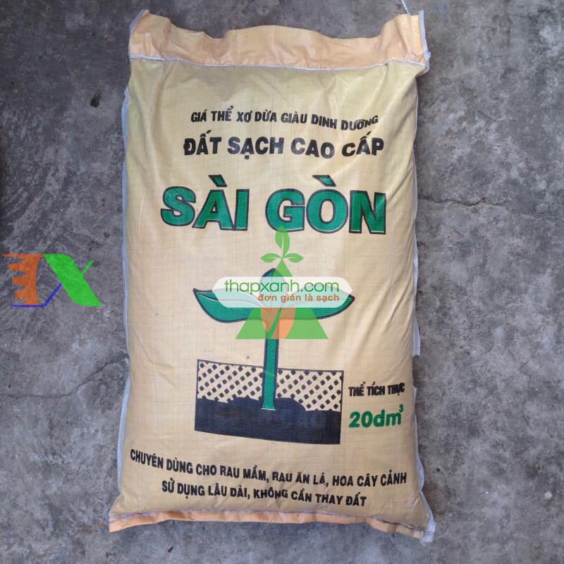 Đất sạch Sài Gòn (túi 20dm3)