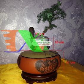 Ảnh của Chậu cây bay (Air bonsai) (sứ, TX_AB010)