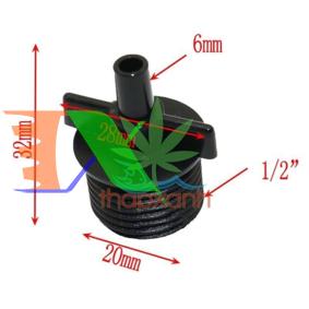 """Picture of Khởi thủy Ren 1/2"""" 20-21 Ra trơn 6 mm KT60.21, Côn thu ống LDPE PE PVC 21-6 mm"""