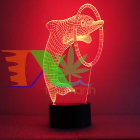 Picture of Đèn ngủ cá heo 7 màu