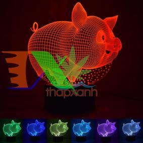 Picture of Đèn ngủ, đèn trang trí Led 3D, Đèn ngủ 7 màu