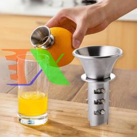 Ảnh của Dụng cụ chiết vắt nước Chanh Cam VC100 Inox, Dụng cụ lấy nước từ lõi trái cây Táo Thơm Dứa