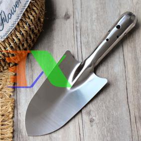 Picture of Xẻng làm vườn inox TXE-01, Xẻng thép trắng cẩm tay, Xẻng inoc cầm tay mini