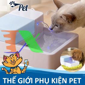Ảnh của Khay uống nước cao cấp cho Pet (Chó, mèo) PFD-12, có đèn led, phun nước, lọc nước