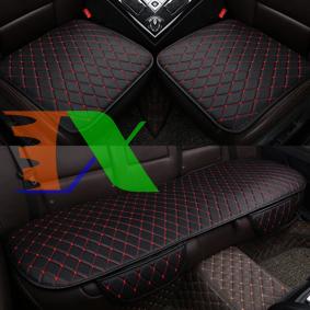 Ảnh của Bộ 3 miếng lót ghế xe ô tô D00 5 Chỗ, Đệm ghế xe hơi, Nệm mặt ghế xe 4-5 chỗ, Đệm da ô tô