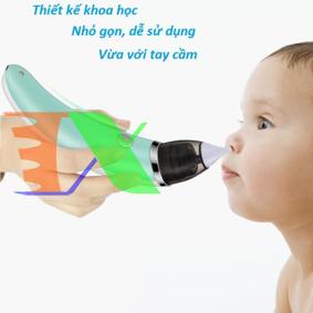 Picture of Máy hút mũi điện tự động Little Bees, Dụng cụ hút mũi cho trẻ, Máy vệ sinh mũi trẻ em chạy pin sạc