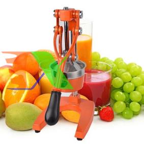 Ảnh của Máy ép cam ORG-2, Dụng cụ Ép trái cây hoa quả bằng tay , Ép bưởi, táo, nho, Khay inox thân hợp kim