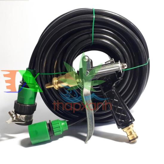 Picture of Bộ vòi xịt nước tưới cây, rửa xe áp lực cao kim loại (5 trong 1) kèm 15m dây 8/11