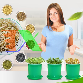 Picture of Chậu trồng giá đỗ KOI-21, Khay trồng rau mầm, Máy trồng đậu hà lan đá Maifan