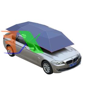 Ảnh của Ô che nắng ô tô DIK-MANUAL, Dù che nắng xe hơi cao cấp dùng tay đóng mở Dingku