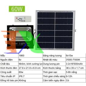 Ảnh của Đèn led năng lượng mặt trời SUN-1860 60W, Đèn năng lượng mặt trời IP 67
