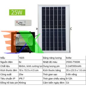 Ảnh của Đèn led năng lượng mặt trời SUN-1825 25W, Đèn năng lượng mặt trời IP 67