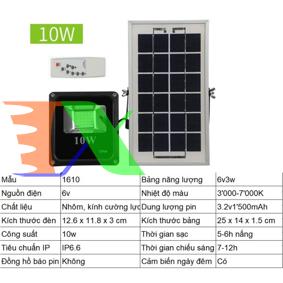 Ảnh của Đèn led năng lượng mặt trời SUN-1610 10W, Đèn năng lượng mặt trời IP 66