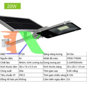 Ảnh của Đèn led năng lượng mặt trời MON-2720 20W, Đèn năng lượng mặt trời IP 65