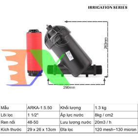 """Ảnh của Lọc đĩa chữ Y ARKA-1.5.50 (1.5"""" (inch), ϕ50), Lọc đĩa tưới cây, Lọc nước chữ Y"""