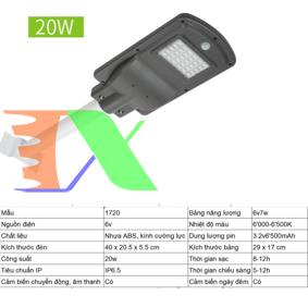 Ảnh của Đèn led năng lượng mặt trời MON-1720 20W, Đèn năng lượng mặt trời IP 65