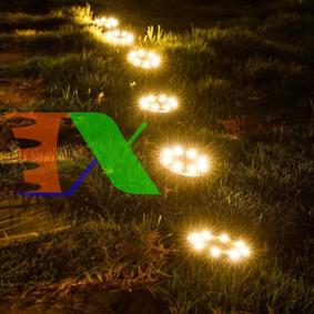 Picture of Đèn chiếu tiểu cảnh năng lượng mặt trời SBN-8 8 Leds, Đèn trang trí sân vườn Disk Light