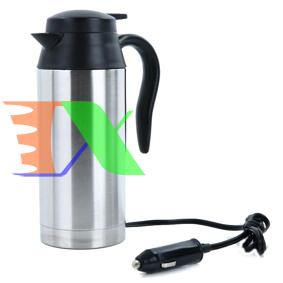 Ảnh của Bình đun nước trên ô tô BN1-750 ml Điện 12V 24V, Ấm siêu tốc trên xe hơi, Phích giữ nhiệt 2 lớp Inox 304