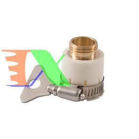Ảnh của Đầu nối nhanh 16 có đai siết bằng Đồng, Khớp nối nhanh từ vòi nước, Đai siết cổ dê vòi nước, Đai nối vòi nước