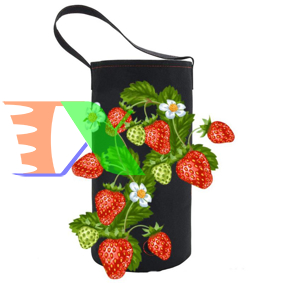Ảnh của Túi treo trồng hoa 22x38, Túi treo trồng rau, Túi vải trồng hoa treo tường