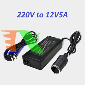 Ảnh của Bộ đổi nguồn ô tô từ 220v sang 12v5A 60W tẩu sạc AZU-N60, Bộ chuyển nguồn xe hơi sang tẩu sạc
