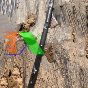 Ảnh của Dây tưới nhỏ giọt 1602.50.2L, Băng nhỏ giọt bù áp Dây bẹt PE, Mắt 50 cm, Dày 0.2 mm, 1000m
