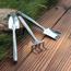 Picture of Bộ dụng cụ làm vườn 3 món thép trắng TXE-3IN, Bộ xẻng 3 món Inox , Xẻng 3 trong một