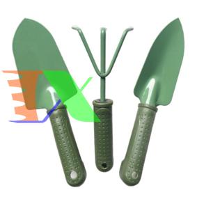 Picture of Bộ dụng cụ làm vườn 3 món thép xanh TXE-3SO, Bộ xẻng 3 món sơn tĩnh điện, Dụng cụ 3 trong 1