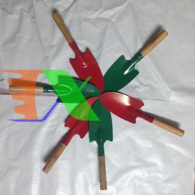 Picture of Xẻng làm vườn mini Cán gỗ TXE-04, Xẻng sơn tĩnh điện, Xẻng trồng cây, Xẻng cho bé