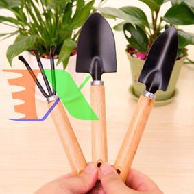Picture of Bộ dụng cụ làm vườn 3 món cán gỗ TXE-3GO1, Bộ Xẻng 3 món, Xẻng làm vườn cán gỗ