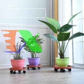 Ảnh của Giá để chậu hoa bằng nhựa TDN-37 cm, Kệ để chậu cây cảnh 4 bánh, Đế chậu cây có bánh xe lăn