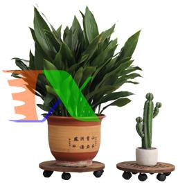Ảnh của Giá để chậu hoa bằng gỗ TDG-35 cm, Kệ để chậu cây cảnh 4 bánh, Đế chậu cây có bánh xe lăn