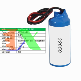 Picture of Pin lithium ion 32650 6000mAh 3.2V Sắt Phosphate  32650, Mạch bảo vệ, Dây