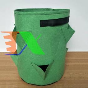 Ảnh của Tháp trồng rau dạng túi  D35X40, Túi trồng rau nhiều miệng có quai xách, Túi trồng hoa, Túi trồng cây