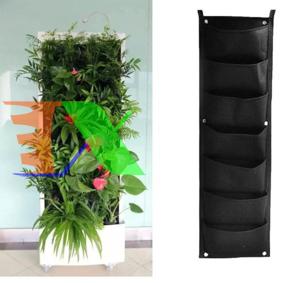 Ảnh của Túi trồng cây treo tường 7 túi, Túi treo đồ đa năng, Túi đựng đồ trang trí, Túi trồng hoa