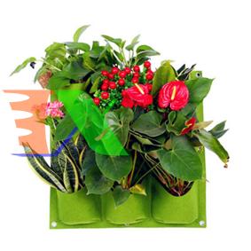 Ảnh của Túi trồng cây treo tường 9 hốc, Túi làm vườn tường trang trí, Túi trồng hoa, rau, cây cảnh