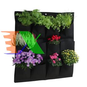 Ảnh của Túi trồng cây treo tường 16 lỗ, Túi làm vườn tường trang trí, Túi trồng hoa, rau, cây cảnh