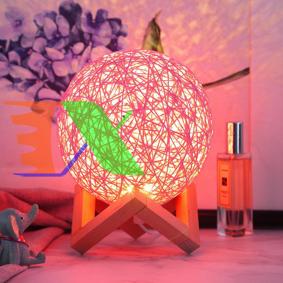 Picture of Đèn ngủ cầu mây đa sắc GO-16, Điều khiển từ xa, Đèn ngủ cho bé, Đèn led trang trí để bàn