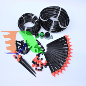 Ảnh của Bộ Kit 16 Que cắm 8 tia phun sương đầy đủ dây, phụ kiện TX-DIY-02, Bộ Béc tưới rau hoa tự lắp DIY