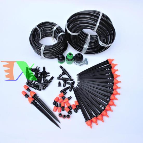 Picture of Bộ Kit 16 Que cắm 8 tia phun sương đầy đủ dây, phụ kiện TX-DIY-02, Bộ Béc tưới rau hoa tự lắp DIY