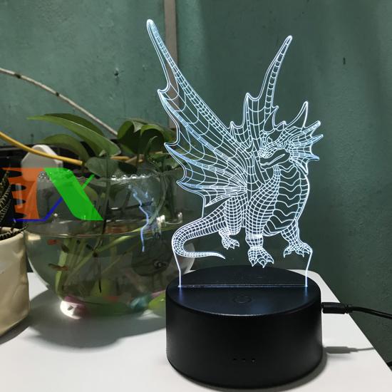 Ảnh của Đèn ngủ, đèn trang trí Led 3D, Đèn ngủ 7 màu mini