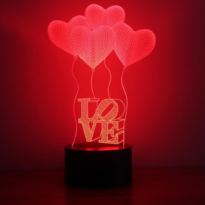 4 bóng bay trái tim (I Love You)