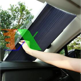 Ảnh của Rèm chắn nắng kính lái ô tô REM- 155x70, Rèm che taplo xe hơi, Tấm che kính chắn gió