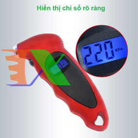 Ảnh của Đồng hồ đo áp suất lốp ô tô, xe máy AZU-A15, Dụng cụ đo áp điện tử cầm tay, Thiết bị đo van áp