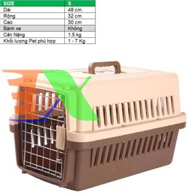 Ảnh của Lồng vận chuyển Pet (Size S) LHK-S, Lồng hàng không cho Chó,  Mèo, Thú cưng 1-7 kg