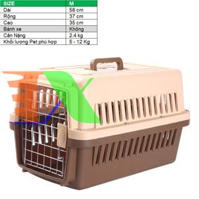 Ảnh của Lồng vận chuyển Pet (Size M) LHK-M, Lồng hàng không cho Chó,  Mèo, Thú cưng 5-12 kg