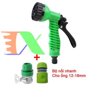 Picture of Bộ phụ kiện tưới cây, Rửa xe 3 món VPN-3011, Bộ vòi tưới cây 7 trong 1, 7 chế độ 12-18 mm