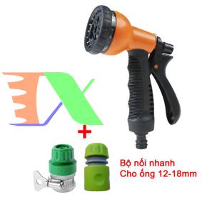 Picture of Bộ phụ kiện tưới cây, Rửa xe 3 món VPN-3012, Bộ vòi tưới cây 8 trong 1 Nối nhanh 12-18 mm