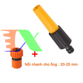 Ảnh của Vòi xịt nước tưới cây VPN-2430, Vòi nhựa thẳng kèm Đầu nối 20-25 mm