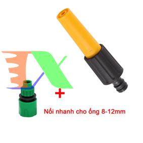 Ảnh của Vòi xịt nước tưới cây VOI-N16.221, Vòi nhựa thẳng kèm Đầu nối nhanh 8-12 mm